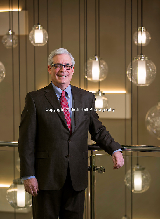 Ramsay Ball, principal with Colliers International, stands in the Chancellor Hotel on Wednesday, Jan. 14, 2015, in Fayetteville, Arkansas. Photo by Beth Hall
