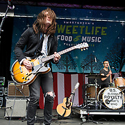COLUMBIA, MD - April 28th, 2012 -   Paul Thornley and Luke Adams of US Royalty perform at the 2012 Sweetlife Food and Music Festival at Merriweather Post Pavilion in Columbia, MD.  This was the band's last live performance before going into the studio to record their sophomore album. (Photo by Kyle Gustafson/For The Washington Post)