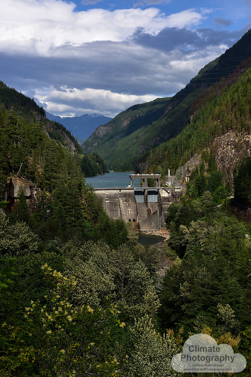"""#ThisIsClimateChange<br /> <br /> Skagit River Hydroelectric Project in Northeastern Washington contributes to climate change, as all dams do to varying degrees, as explained in this Washington State University press release: http://www.eurekalert.org/pub_releases/2012-08/wsu-ang080612.php. Basically, aside from the carbon emissions from dam construction, there is an initial """"carbon pulse"""" from filling a dam, when the plant life is engulfed and decomposes, and then there is an ongoing emission of methane that is developed within the impoundment, as carbon dioxide is converted by plants and decomposed by changing water levels as the reservoir is managed for energy production.<br /> <br /> All three dams are shown herein, the Gorge, Diablo, and Ruby, renamed to Ross, Dams."""