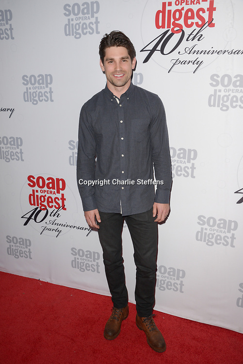 JUSTIN GASTON at Soap Opera Digest's 40th Anniversary party at The Argyle Hollywood in Los Angeles, California