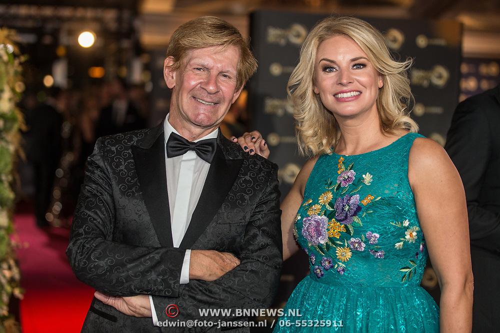 NLD/Amsterdam/20171012 - Televizier-Ring Gala 2017, Addy van den Krommenacker en Pernille la Lau