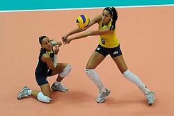 27-08-2010 VOLLEYBAL: WGP FINAL BRAZIL - USA: BEILUN NINGBO<br /> USA beats Brazil in five sets / Fabiana de Oliveira and Jaqueline Carvalho<br /> ©2010-WWW.FOTOHOOGENDOORN.NL