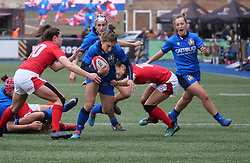 February 2, 2020, Cardiff, United Kingdom: Sofia Stefan (Italy) seen in action during the women's Six Nations Rugby between wales and Italy at Cardiff Arms Park in Cardiff. (Credit Image: © Graham Glendinning/SOPA Images via ZUMA Wire)