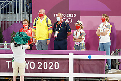Kiss and Cry, Team Belgium<br /> Olympic Games Tokyo 2021<br /> © Hippo Foto - Dirk Caremans<br /> 24/07/2021