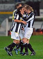 "TORINO 29/11/2008<br /> STADIO ""OLIMPICO"" SERIE A 2008-2009<br /> JUVENTUS-REGGINA 4-0<br /> FOTO INSIDEFOTO<br /> AUTHOR MASSIMO OLIVA INSIDEFOTO<br /> Esultanza PER IL GOL DI MAuro Camoranesi (Juventus)"