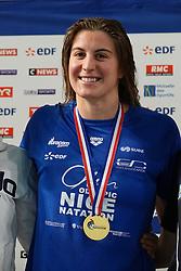 November 16, 2018 - Montpellier, France - charlotte bonnet championne de france 200 m nage libre podium (Credit Image: © Panoramic via ZUMA Press)