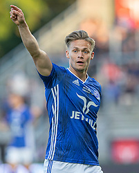 André Riel (Lyngby Boldklub) under kampen i 3F Superligaen mellem Lyngby Boldklub og Hobro IK den 20. juli 2020 på Lyngby Stadion (Foto: Claus Birch).