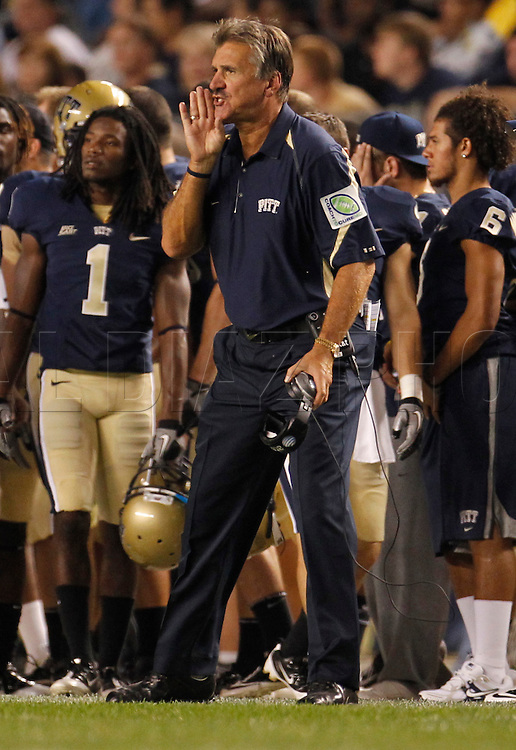 Pittsburgh Head Coach Dave Wannstedt on the sidelines during The University of Miami  vs The University of Pittsburgh Panthers at Heinz Field in Pittsburgh, PA, on Thursday, September 23, 2010.