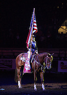 April 4, 2013: The PRCA (Professional Rodeo Cowboys Association) cowboys compete in day 1 events at the Ram National Circuit Finals Rodeo in Oklahoma City (OKC).  The championship event is being held at Jim Norick Arena on the Oklahoma State Fairgrounds.