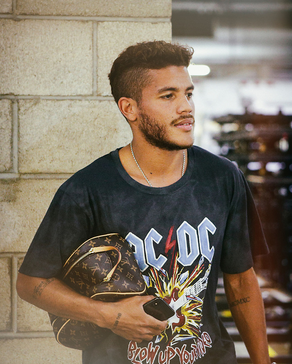 Jonathan Dos Santos. Photos taken in the summer of 2018 for the LA Galaxy home games against D.C. United, Minnesote United, Colorado Rapids and LAFC. Major League Soccer. ©justinalexanderbartels.com