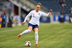 February 27, 2019 - Chester, PA, U.S. - CHESTER, PA - FEBRUARY 27: England Defender Lucy Bronze (2) collects the ball in the first half during the She Believes Cup game between Brazil and England on February 27, 2019 at Talen Energy Stadium in Chester, PA. (Photo by Kyle Ross/Icon Sportswire) (Credit Image: © Kyle Ross/Icon SMI via ZUMA Press)