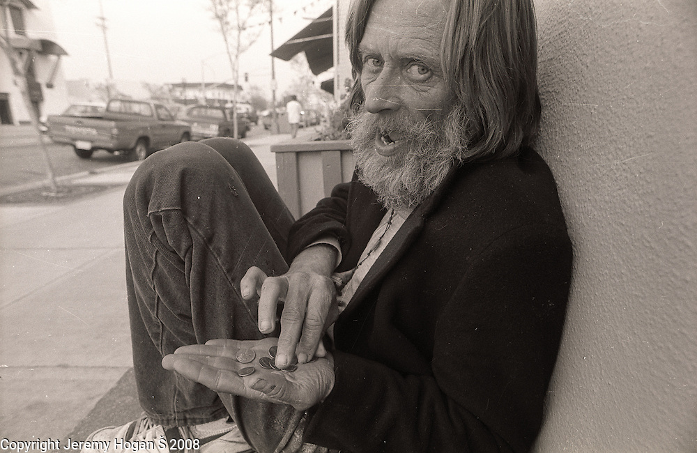 Skip Spence hangs out at T&P Liquors where he begs for change during early March 1994 in Downtown San Jose, Calif. Skip Spencer was once the drummer from Jefferson Airplane and the leader of the influential band Moby Grape. At age 21 Spencer had a nervous breakdown and spent the next three decades in and out of mental institutions and half way houses. In the 1960s Spence, who was often called Spencer, was friends with many in the San Francisco rock scene including Janis Joplin.