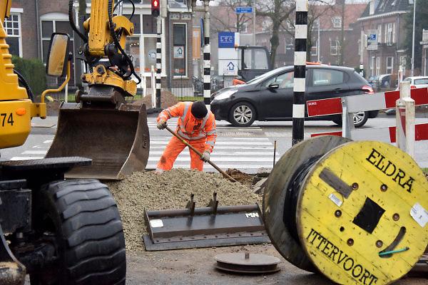 Nederland, Nijmegen, 15-2-2018Herinrichting, reconstructie en onderhoud aan de Oranjesingel.Foto: Flip Franssen