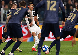 November 8, 2018 - Turin, Italy - Cristiano Ronaldo (C) of Juventus in action during the Group H match of the UEFA Champions League between Juventus FC and Manchester United FC on November 7, 2018 at Juventus Stadium in Turin, Italy. (Credit Image: © Mike Kireev/NurPhoto via ZUMA Press)