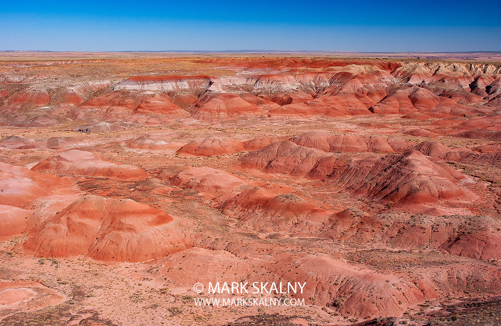 The Painted Desert's colorful strokes stretch across Northern Arizona