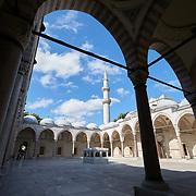 Suleymaniye Mosque Courtyard Arches, Istanbul