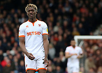 Blackpool's Armand Gnanduillet in action<br /> <br /> Photographer David Shipman/CameraSport<br /> <br /> The EFL Sky Bet League One - Luton Town v Blackpool - Saturday 6th April 2019 - Kenilworth Road - Luton<br /> <br /> World Copyright © 2019 CameraSport. All rights reserved. 43 Linden Ave. Countesthorpe. Leicester. England. LE8 5PG - Tel: +44 (0) 116 277 4147 - admin@camerasport.com - www.camerasport.com