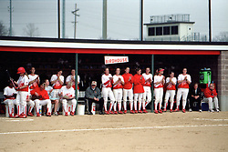 2001 Illinois State Redbird softball<br /> <br /> <br /> This image was scanned from a slide, print, negative or transparency.  Image quality may vary.  Dust and other unwanted artifacts may exist.