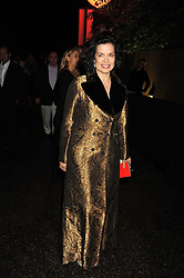 BIANCA JAGGER at the annual Serpentine Gallery Summer Party in Kensington Gardens, London on 9th September 2008.
