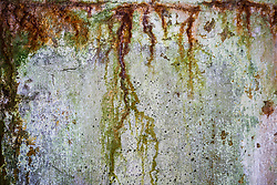 Abstract patina of paints on abandoned walls of Battery Russell, Fort Stevens State Park, Oregon, USA.