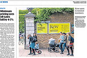The Courier newspaper cutting © Guy Bell, guy@gbphotos.com, 07771786236
