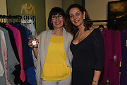 SHARON WATERS; ELAINE MADIGAN;  The Arthur Cox Irish Fashion Showcase 2015,  Irish based designers chosen to be part of this year's Arthur Cox Irish Fashion Showcases The Mall Galleries, London. 13 May 2015.