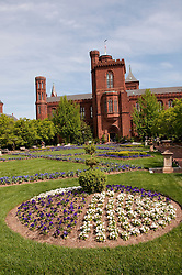 Washington DC: Smithsonian headquarters The Castle on the Mall. Photo copyright Lee Foster.  Photo # washdc102687