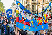 An estimted 650,000 people marching down Piccadilly - The People's Vote March For The Future demanding a Vote on any Brexit deal. The protest assembled on Park Lane and then marched to Parliament Square for speeches.