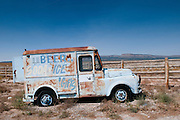 An abandoned delivery truck along Route 66. Missoula Photographer