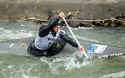 Grzegorz Hedwig of Poland competes during Canoe Single (C1) Men Final race of 2018 ICF Canoe Slalom World Cup 4, on September 1, 2018 in Tacen, Ljubljana, Slovenia. Photo by Vid Ponikvar / Sportida