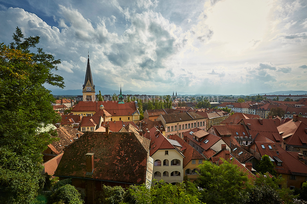 Ljubljana, Slovenia rooftops