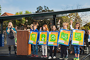 On 2/4/2014, a ribbon cutting ceremony was held at Farragut Elementary School in Culver City for the switching on of the school district's new 750kw solar array built at the school. In addition to providing an expected $400,000 back to the school district, it will also serve as an education tool to help teach students about alternative energies, sustainability and climate change. California, USA