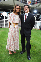 AISHA THOMPSON and STEPHEN WEBSTER at the 3rd day of the 2008 Glorious Goodwood racing festival at Goodwood Racecourse, West Sussex on 31st July 2008.<br /> <br /> NON EXCLUSIVE - WORLD RIGHTS
