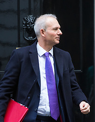 Downing Street, London, February 28th 2017. Leader of the House of Commons David Lidington leaves the weekly cabinet meeting at 10 Downing Street in London.