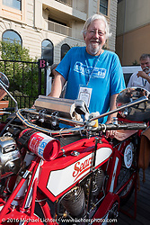Bob Wooldridge with his 1913 Sears Dreadnought motorcycle on the Atlantic City boardwalk at the start of the Motorcycle Cannonball Race of the Century. Stage-1 from Atlantic City, NJ to York, PA. USA. Saturday September 10, 2016. Photography ©2016 Michael Lichter.