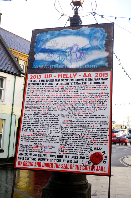 Tuesday 29th January 2013: The Bill at Up Helly Aa 2013 in Lerwick, Shetland. Copyright 2013 Peter Horrell