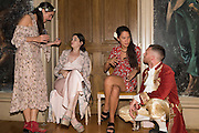 CELESTINE COONEY; SONIA MELOT; SARAH PEARSON; RHYS JONES, Bella Howard 30th birthday, Castle Howard, Dress code: Flower Fairies and Prince Charming, 3 September 2016