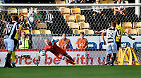 Fotball, 12. august 2019 , Eliteserien ,  Lillestrøm - Mjøndalen<br /> Julian Faye Lund , MIF greier ikke å ta straffesparket til Arnor Smarason , LSK