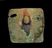 Mummy mask in copper. Inca, Peru. 1300 AD