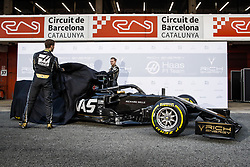 February 18, 2019 - Barcelona, Spain - GROSJEAN Romain (fra), and MAGNUSSEN Kevin (dnk), Haas F1 Team VF-19 Ferrari, during Formula 1 winter tests from February 18 to 21, 2019 at Barcelona, Spain - : FIA Formula One World Championship 2019, Test in Barcelona, (Credit Image: © Hoch Zwei via ZUMA Wire)