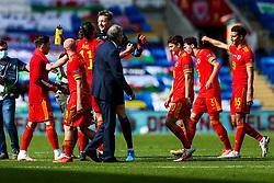 Gareth Bale and Wayne Hennessey of Wales celebrate a 1-0 win - Rogan/JMP - 06/09/2020 - FOOTBALL - Cardiff City Stadium - Cardiff, Wales - Wales v Bulgaria - UEFA Nations League Group B4.