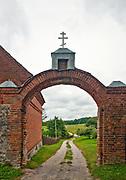 Brama do klasztor staroobrzędowców w Wojnowie