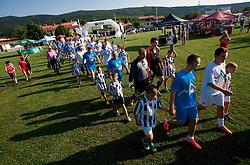 Znani Slovenci na dobrodelni nogometni tekmi SD Bilje, katere izkupicek  je namenjen Zavodu Lu ter Fundaciji Vrabcek upanja, on June 22, 2012 in Bilje pri Novi Gorici, Slovenia. (Photo by Vid Ponikvar / Sportida.com)