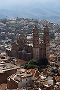 Saint Prisca, the Cathedral in Taxco, a colonial silver mining town in central Mexico.