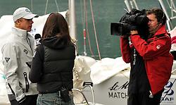 Ian Williams talking with Hannah White. Photo: Chris Davies/WMRT