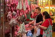 Butcher at Wan Chai Road, Hong Kong Island, Hing Kong, China.
