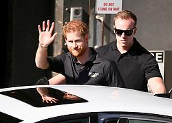 AU_1373725 - Sydney, AUSTRALIA  -   Prince Harry gives Jordan  Ilencik 13 of Campbelltown a hug following his BridgeClimb.<br /> <br /> Pictured: Prince Harry<br /> <br /> BACKGRID Australia 19 OCTOBER 2018 <br /> <br /> Phone: + 61 2 8719 0598<br /> Email:  photos@backgrid.com.au