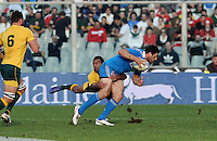Florence, Italy -In the photo Masi opposed by Beale.Artemio Franchi stadium in Florence Rugby test match Cariparma.Italy vs Australia. (Credit Image: © Gilberto Carbonari).