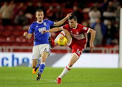 Middlesbrough's Jonny Howson and Birmingham City's Maikel Kieftenbeld battle for the ball