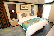 The launch of Royal Caribbean International's Oasis of the Seas, the worlds largest cruise ship..Staterooms.Aquatheater suite with balcony